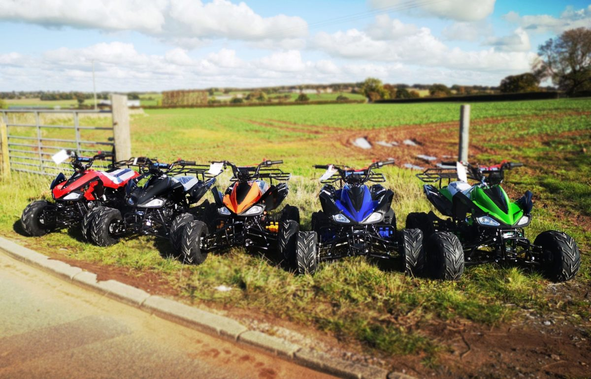 Hawkmoto Interceptor 125cc Kids Quad Bike 3 Speed – Blue