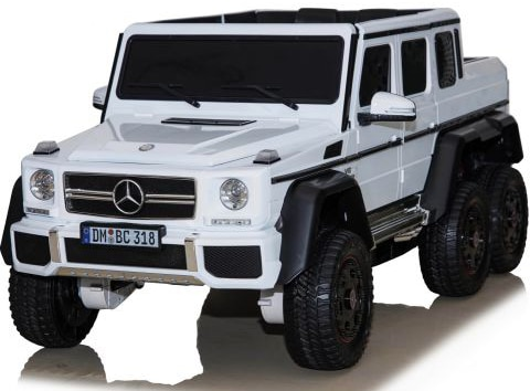 Licensed Mercedes Benz G63 6x6 Childrens Electric Ride On Jeep – White