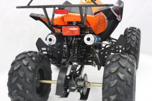 hawkmoto 125cc quad twin exhausts