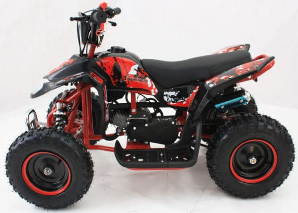 Hawkmoto Avenger 50cc Mini Quad Bike For Kids – Amazing Red