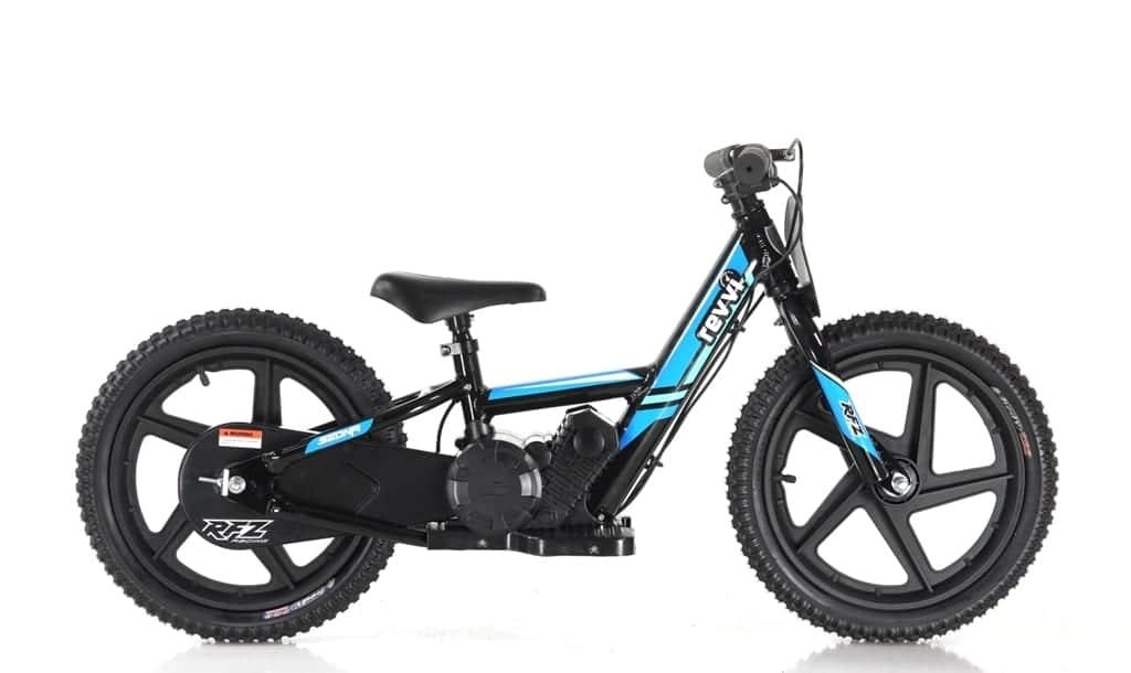 Revvi Lithium 16″ Kids Electric Dirt Bike – 24v Motorbike – Blue