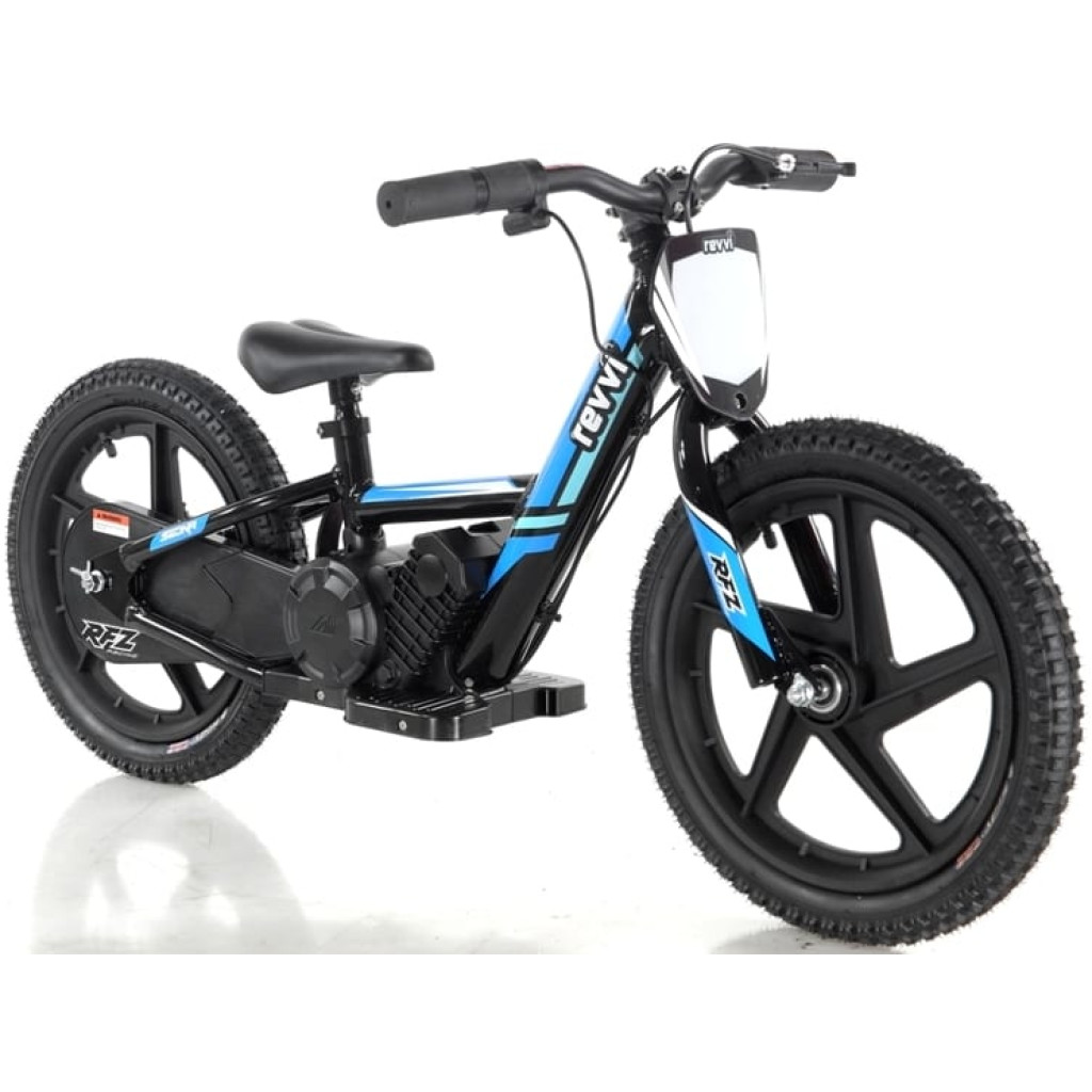 Revvi Lithium 16″ Kids Electric Dirt Bike – 24v Motorbike – Blue