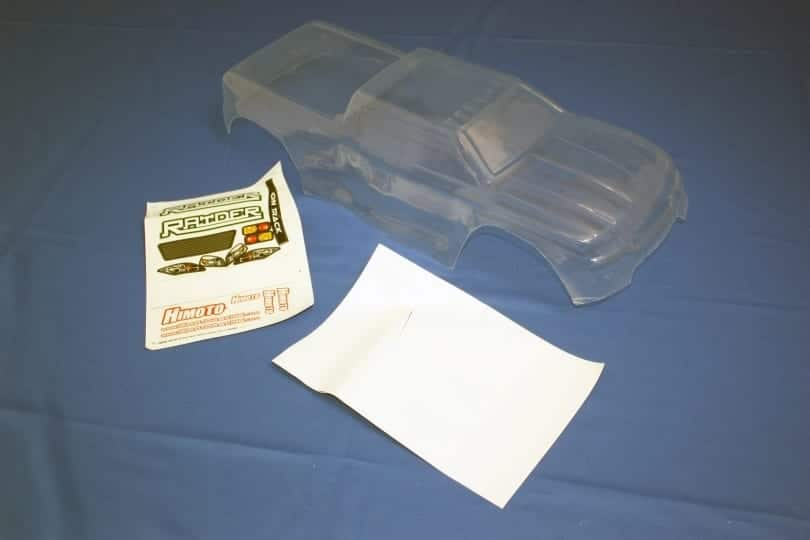 Himoto 1:8 Raider Monster Truck Body Shell (clear Unpainted) (e8mt-cl)
