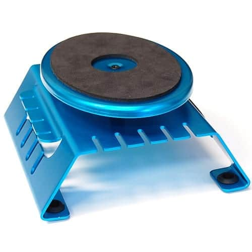Aluminum Workstand Turntable With Built In Magnetic Strip Blue