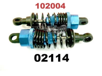Upgrade (02114) Aluminium Shock Absorber 2p (102004)
