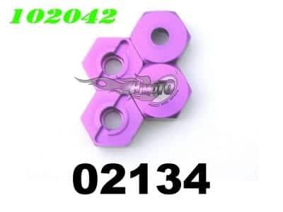 Upgrade (02134) Aluminium Wheel Hex Mount 4p (102042)