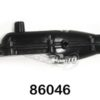 Upgrade (86046) Metal Exhaust Pipe (black) (286009a)