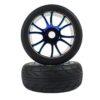 Blue Chrome On Road Tire Andamp;amp; Rim Complete 2p (67007pb)