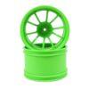 Rc Green 10 Spoke Rims 2p  (08008)