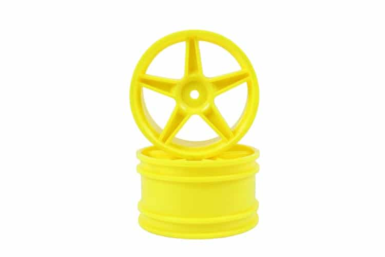 Yellow Super Star Rear Rims 2p  (06024)