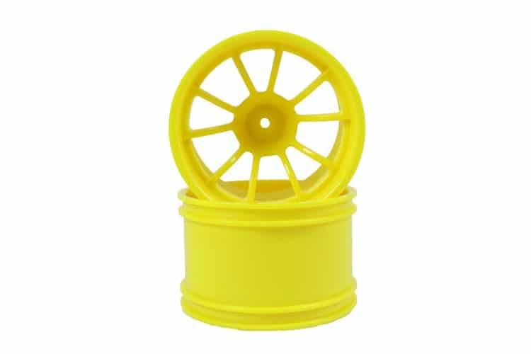 Yellow 10 Spoke Rims 2p  (08008)
