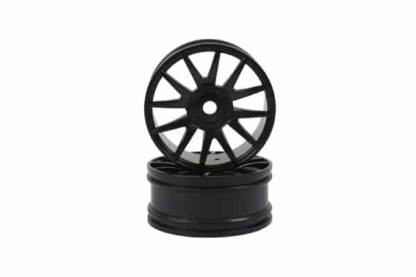 Black 12 Spoke Rims 2p  (82827)