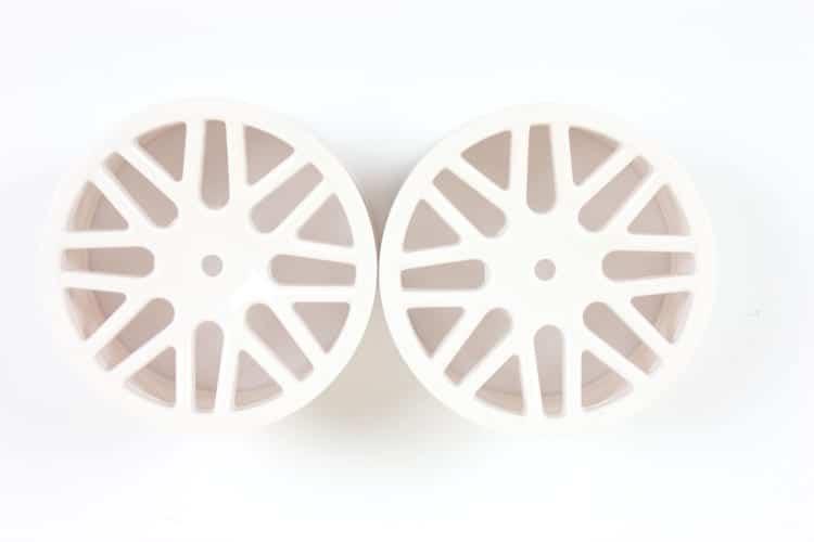 White Mesh Front Rims 2p (06101)