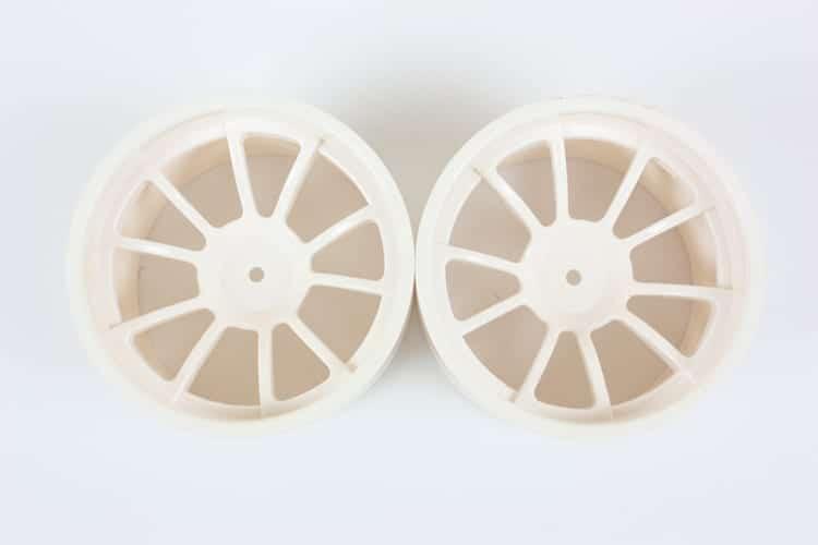 Rc White 10 Spoke Rims   (08008)