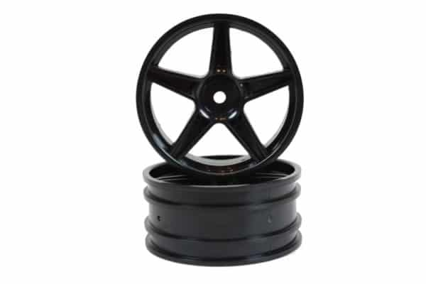 Black Super Star Front Rims 2p (06008)