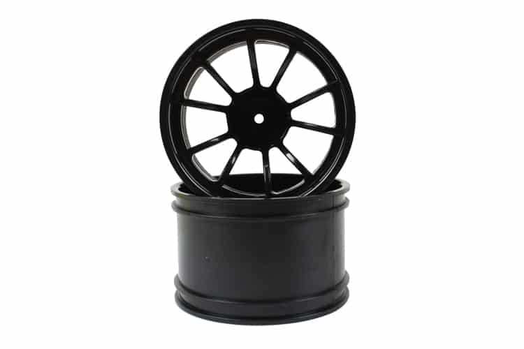 Black 10 Spoke Rims 2p  (08008)