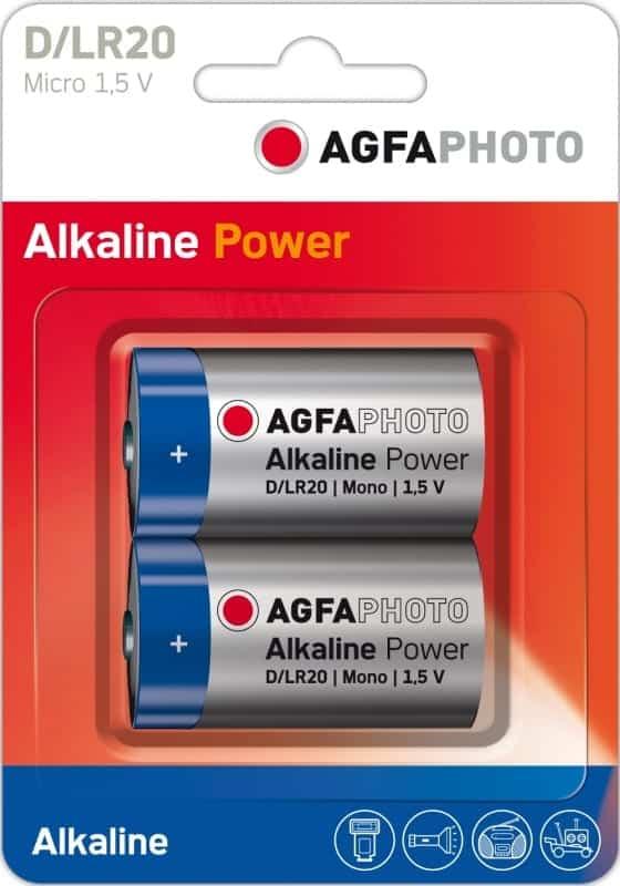 Agfaphoto Alkaline Batteries D