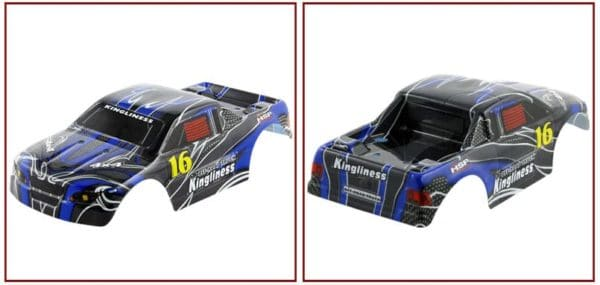 1:16 Scale Monster Truck Spare Body – Carbon Blue(18606)
