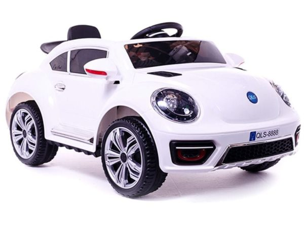 Ride On Vw Beetle Style Kids Ride On Car – White