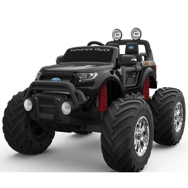 Ford Ranger Ride On Kids 24v Monster Truck 4wd Eva Wheels – Black