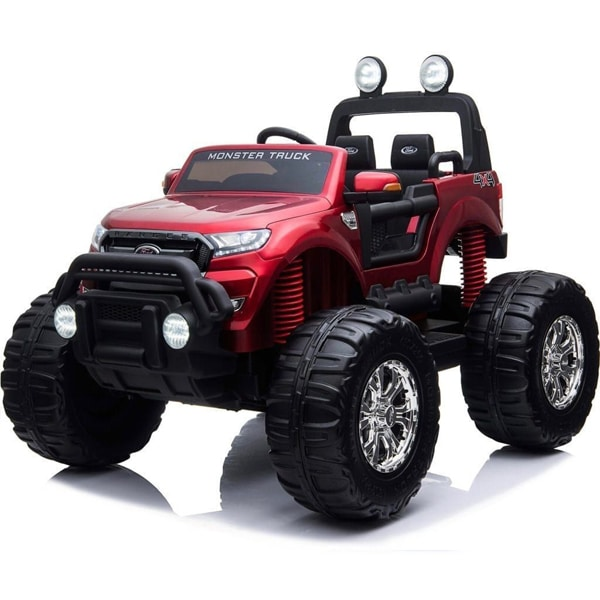 Ford Ranger Ride On Kids 24v Monster Truck 4wd Eva Wheels – Metallic Red