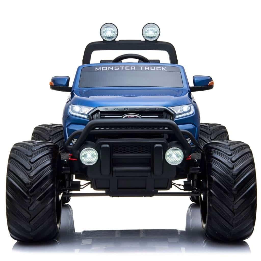 Ford Ranger Ride On Kids 24v Monster Truck 4wd Eva Wheels – Metallic Blue