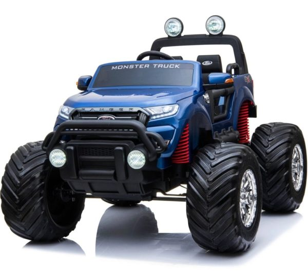 Ford Ranger Ride On Kids 24v Monster Truck 4wd Eva Wheels – Metallic Blue