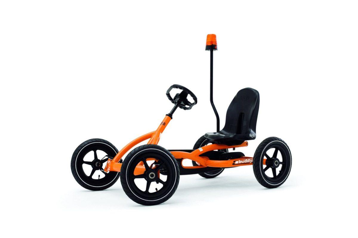 Berg Flashing Light Orange On Pole Go Kart Accessory