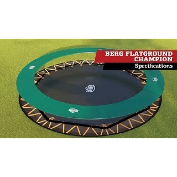 Berg Flatground Champion Trampoline Green 380 (12,5 Ft)