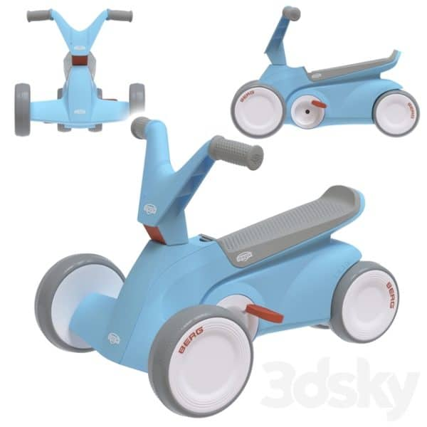 Berg Go2 2 In 1 Push And Pedal Toddlers Go Kart – Blue