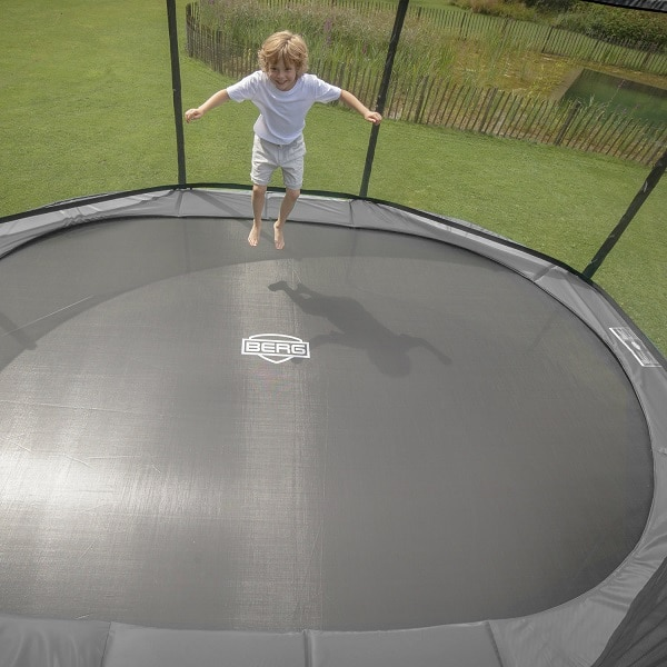 Berg Grand Favorit Inground 520 Trampoline Grey with Comfort Net