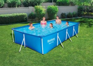 Bestway 56424 Steel Pro 13ft Rectangular Frame Swimming Pool