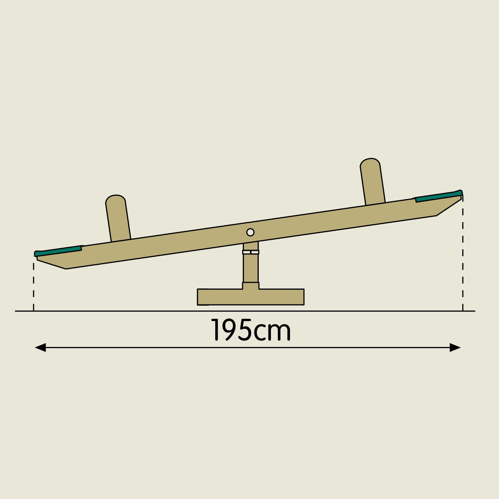 Tp Forest Wooden Seesaw Roundabout