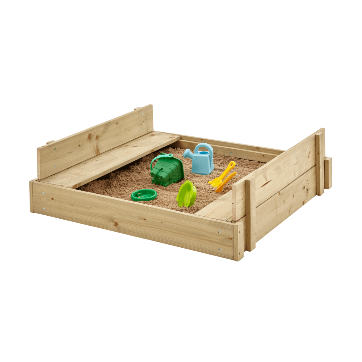 Sandpit With Slotted Cover Fsc