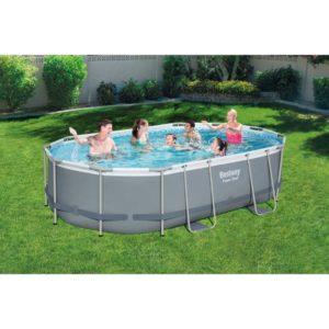 Bestway 56448 Power Steel Frame Oval Pool Set