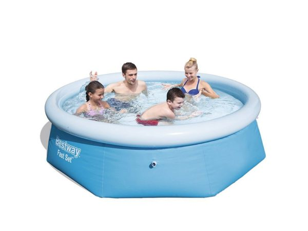 8ft Round Inflatable Pool Basic