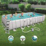 Bestway 56474 Steel Pro Rectangular Frame Pool 24ft