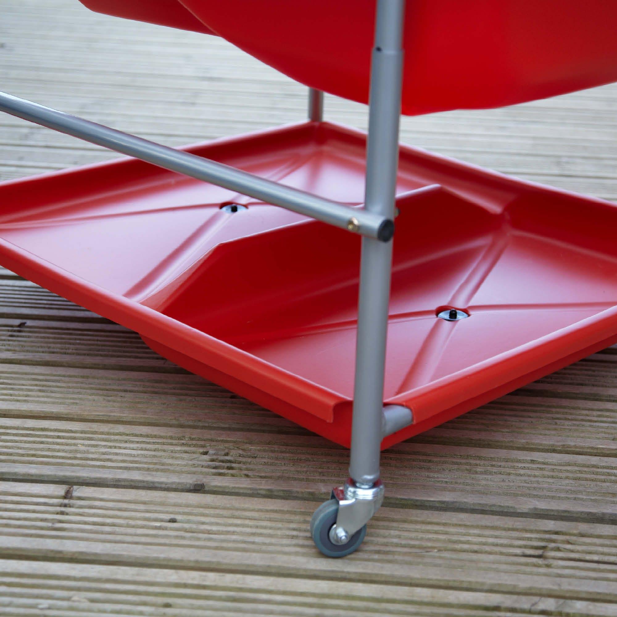 Red Storage Shelf