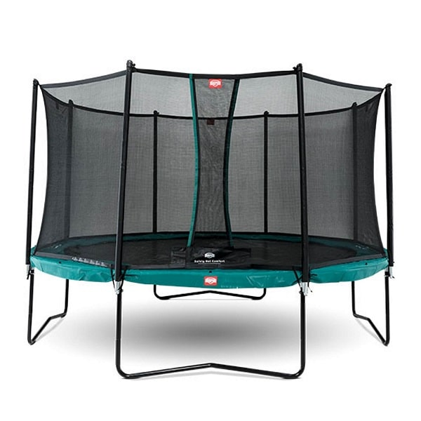 Berg Champion Green Trampoline 330 with Net Comfort