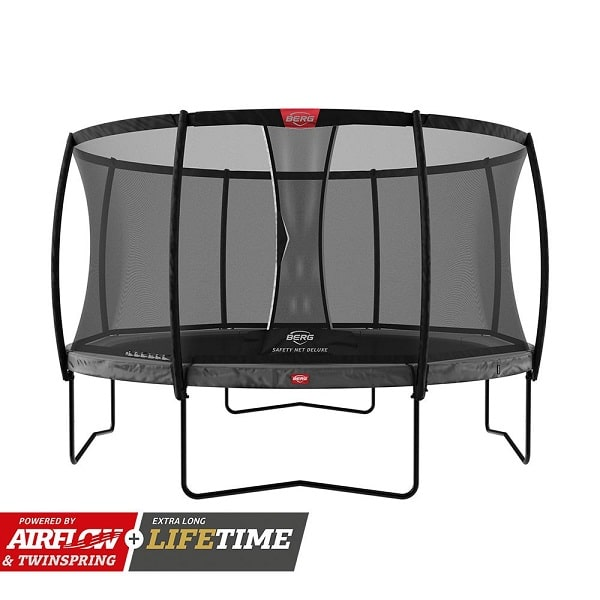 Berg Champion 330 Trampoline Grey With Net Deluxe