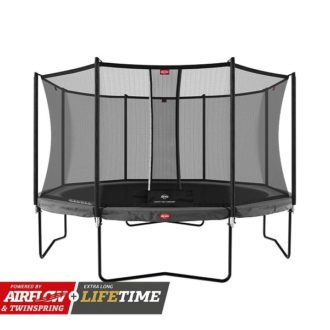 Champion 430 Grey Trampoline With Safety Net Comfort