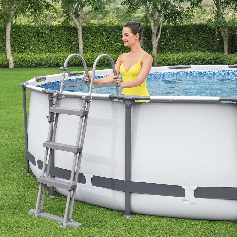 Bestway 56418 12ft Steel Pro Max Swimming Pool Set