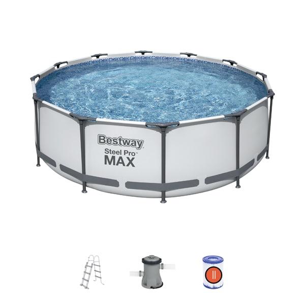 Bestway 56420 Steel Pro 12ft Frame Swimming Pool Set