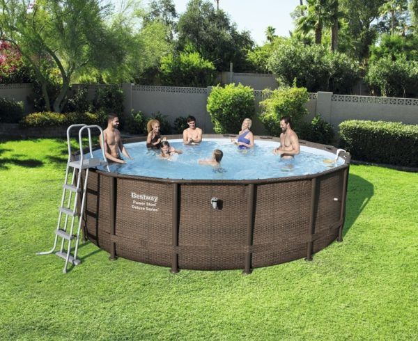 16'x48″ Pwr Stl Deluxe Pool Set