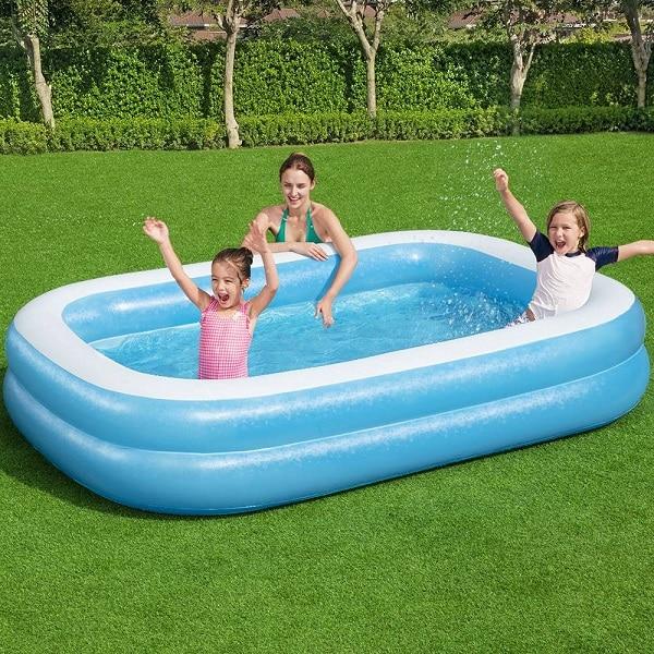 Bestway Deluxe Rectangular Family Pool 9′ X 6′ X 20″ 54006