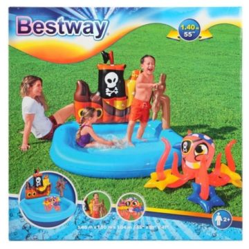 Bestway 52211 Tugboat Inflatable Kids Paddling Pool