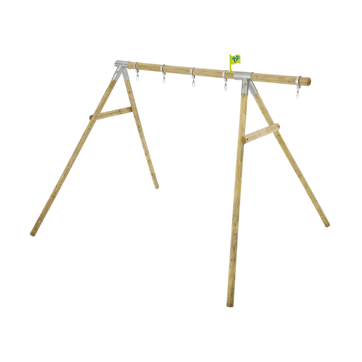 Tp Knightswood Double Wooden Swing Frame & Extension-fsc?