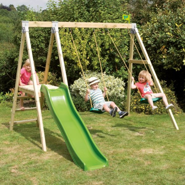 Tp Forest Multiplay Wooden Swing Set & Slide – Fsc?