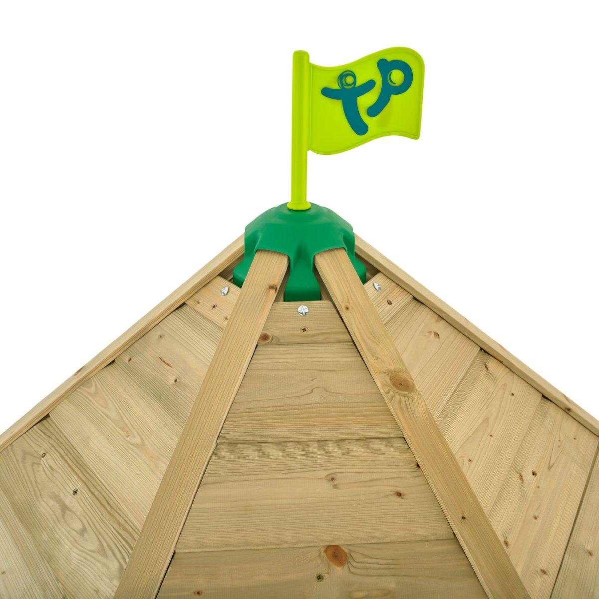 Tp Castlewood Dover Wooden Climbing Frame & Slide-fsc?
