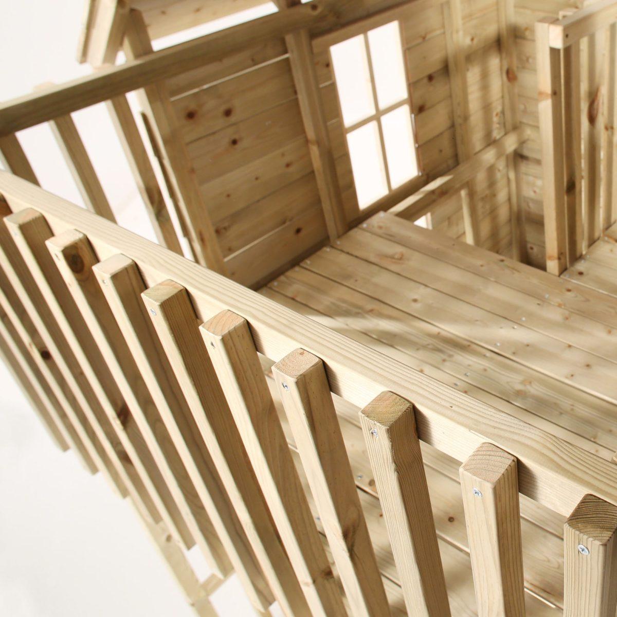 Tp Loft Wooden Playhouse-fsc?